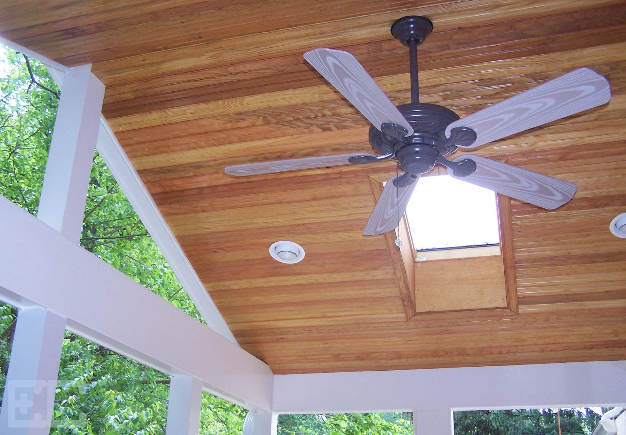 Gabled Porch with Skylight