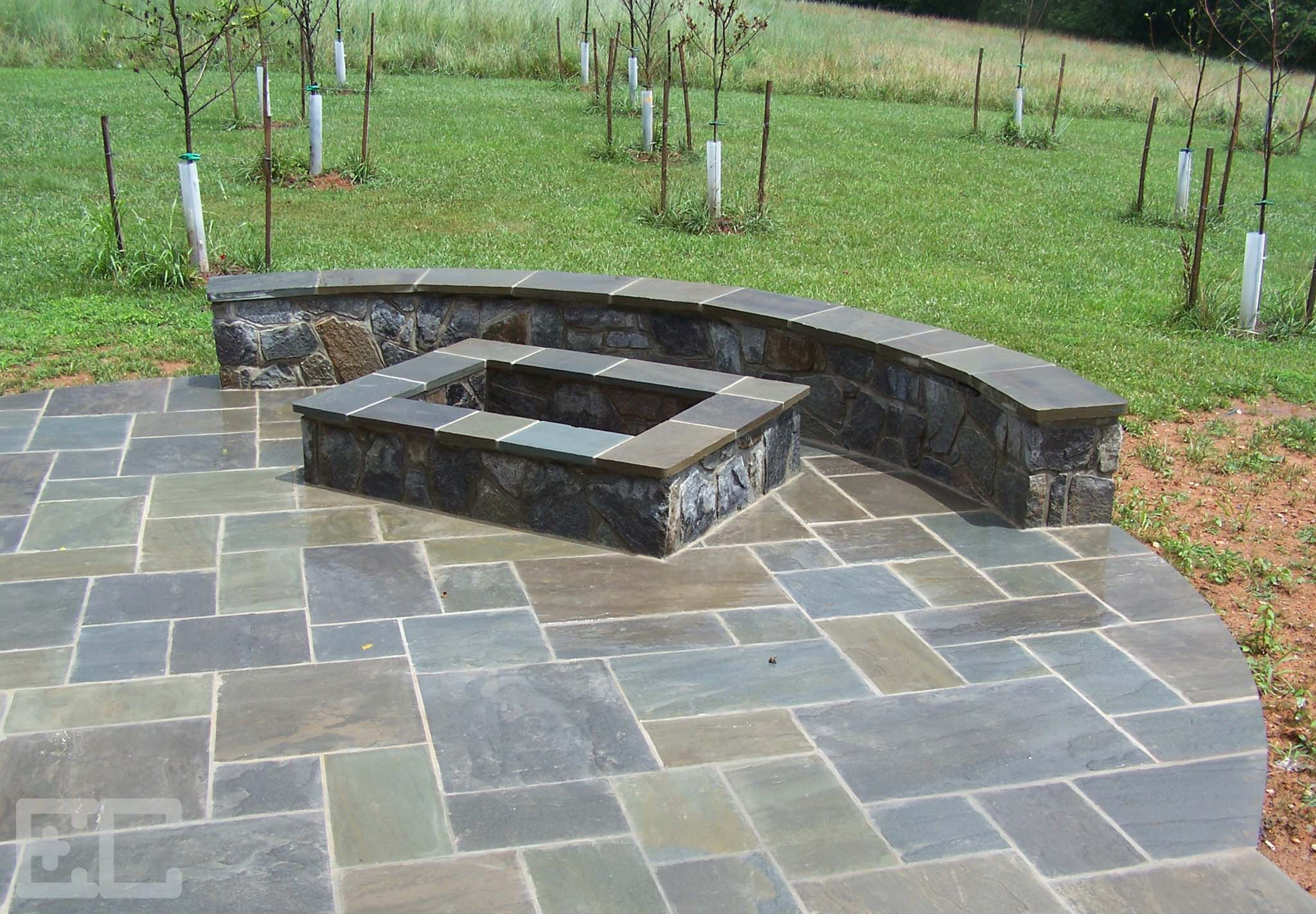 Stone Patio with Fire Pit – Economy Craftsmen Services