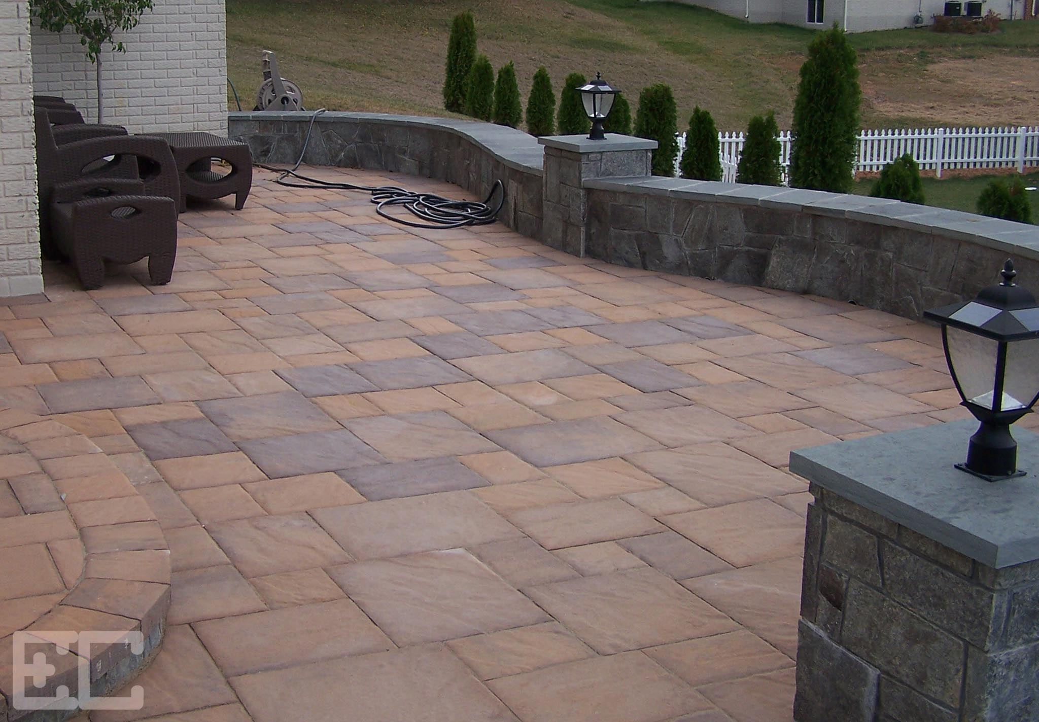 Patio with Stone Walls
