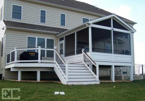 Mid Level Deck with Porch