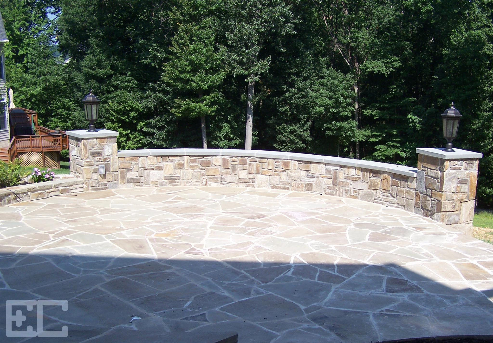 Patio Stone Walls : Patios economy craftsmen services